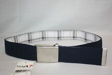 Quiksilver reversible navy white black adjustable juniors fabric Belt S M L Xl