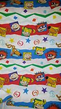 Vintage Nickelodeon Rugrats Twin Flat & Fitted Sheets Tommy Chuckie Angelica