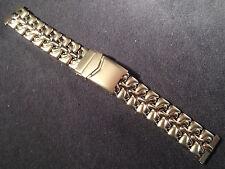 ROWI Germany 20mm Stainless Steel Bracelet Watch Band Deployment Buckle $63.95