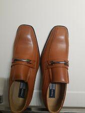 Franco Vanucci Men's Leather Loafer Dress Shoes, Brown Size 10.5
