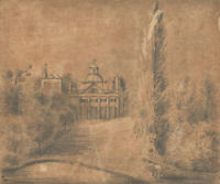 F.R. - 1836 Graphite Drawing, The Manor House