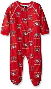 San Francisco 49ers Toddler Full Zip Raglan Coverall PJs Pajamas Footed Sleeper