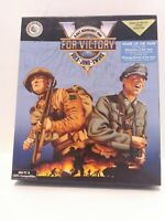 V for Victory: Gold-Juno-Sword (PC, 1992) Big Box Complete 3.5'' Disc Game