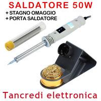 SALDATORE A STILO 50W ZD-715L STAGNO OMAGGIO PORTA SALDATORE SALDATURE SALDANTE