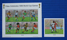 Palau (#463-464) 1998 World Cup Games MNH sheet set
