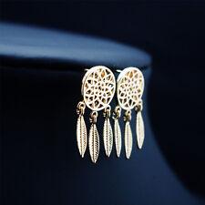 Bohemian Feather Tassel Dream Catcher Dangle Stud Earring Women Accessories HOT