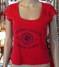 "WOMEN'S TOP ""Red""(Size14) With Motif/Embellishment To Front.""George""VGC"