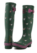 Evercreatures MUJER Botas Wellington Damas Niñas Alto Wellies vegana-pollo