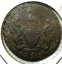 Great Britian 1/2 Penny Conder Token Manchester-Lareashire 1793 DH-128 F
