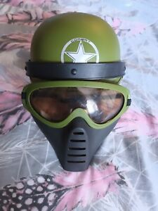 Kids Army Helmet And Combat Face Mask Dress Up
