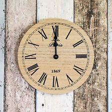 Reloj de pared pequeño 20cm Vintage de madera de París Cocina Decoración Cuarzo Oficina Moderna