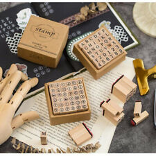 36pcs Set DIY Number Alphabet Letter Wood Rubber Stamp Teaching Diary Decor Z