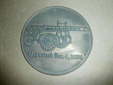 Haddon Heights NJ Fire Department 1904 Fire Truck Metal Plaque Sign