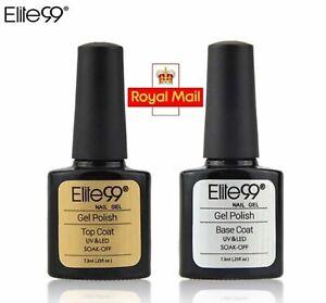 Nail Gel Polish Top And Base Coat Elite 99 Professional Salon Finish Uk Seller