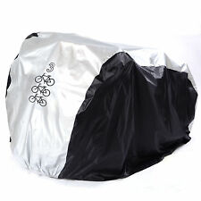 Waterproof Nylon Bicycle Cycle Bike Cover Outdoor Rain Protector for 3 Bikes