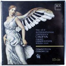 FRYDERYK CHOPIN International Piano Competition 15 CD BOX SEALED