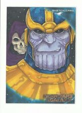 Oversized Guardians of the Galaxy Movie JUMBO Sketch card 5x7 Thanos & Death