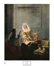 Jacob Ochtervelt Musiker 1670 Poster Kunstdruck Bild 75x61cm