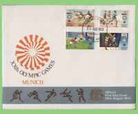K.U.T. 1972 Munich Olytmpic Games set on First Day Cover
