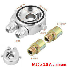 M20x1.5 Aluminum 10An Inlet Outlet Oil Filter Cooler Sandwich Plate Adapter Kit