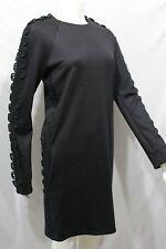fea0cf18d7d Chloe Women Black Wool Cocktail Dress Long Sleeves Side Pockets 6 US 40 It