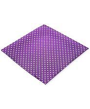 $125 Ryan Seacrest Men Purple Polka Dot Silk Handkerchief Pocket Square Hanky