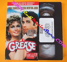 VHS film GREASE Olivia Newton John Travolta SPEAK UP inglese (F141) no dvd