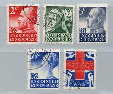 Netherlands - Sc# B16 - B20 Used       /        Lot 0220211