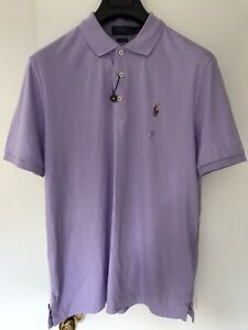 Polo Ralph Lauren Men Polo Ultra Soft Purple New (M)