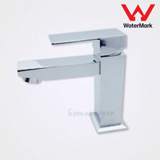 Slim Chrome Square Bathroom Vanity Basin Tap Lavatory Mixer Faucet for Restroom