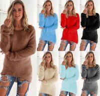 Women's Long Sleeve Knitted Sweater Jumper Knitwear Warm Cardigan Outwear Coat