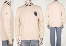 Barbour 1/2 Zip Pullover Cricket Crest Logo Cream Sweater $139