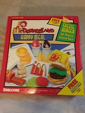 New Shelcore McDonald's Cheeseburger Happy Meal 30 Piece Food Set, RARE