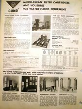 AMF American Machine & Foundry Company CUNO Engineering Catalog ASBESTOS Filter