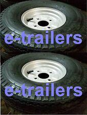 PAIR 5.70 5.00-8 6ply 77M DELI TYRE ON 100mm PCD RIM- CAR DOLLY TRAILER- 415kg