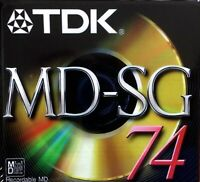 TDK Recordable Mini Disc MD-SG 74: BRAND NEW (SEALED) / FREE SHIPPING
