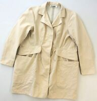 Women's Jil Sander Beige Waterpoof Rain Coat Jacket Size 38 Luxury Authentic