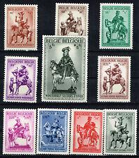 Belgium Art St. Martin Church Horseman Statues long set 10 stamps 1941 Mlh