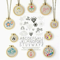 1Set Mini Wooden Cross Stitch Hoop Ring Embroidery Circle Sewing Kit Frame Cr Gy