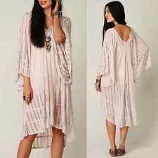 FREE PEOPLE Beach Angel Doll SHEER GAUZE Oversize Boho Cover Up Dress BELL SLV S