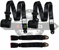 SEAT BELT Universal 3 Point Retractable Inertia Set of two WITH SOFT BUCKLES