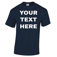 Your Text Here Custom Made Personalised Design Printed T Shirt Stag Do Birthday