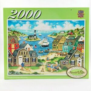 "Master Pieces 2000-pc Jigsaw Puzzle Bonnie White ""Out to Sea"" 37 x 26 Ages 13+"