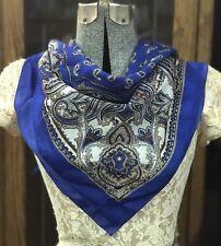 Beau Millésime bleu et blanc asiatique style cachemire à motif écharpe