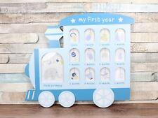 Bleu de ma première année Train Multi Cadre Photo Collage Baby Boy
