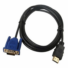 1M HDMI to VGA D-SUB Male Video Adapter Cable Lead for HDTV PC Computer Monitor