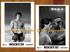 ROCKY III 30 B&W Photo Set SYLVESTER STALLONE Sly MR. T Hulk Hogan Rocky 3