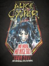 "2011 ALICE COOPER ""No More Mr Nice Guy"" Original Evil Concert Tour (XL) T-Shirt"