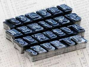 Alphabet Bleilettern Vintage shabby chic Stempel Lettern Initial Monogramm Deko