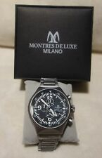 Montres De Luxe Milano Men's Type 12 Black_Grey All-Aluminum Chrono watch NEW